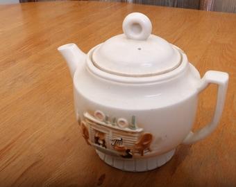 Vintage Hearth Porcelain Teapot