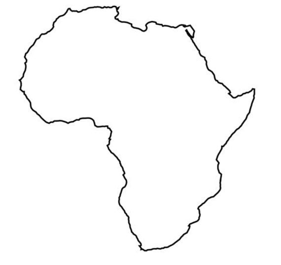 Colourful Africa Map Logo:  Africa Stencil Made From 4 Ply Mat Board