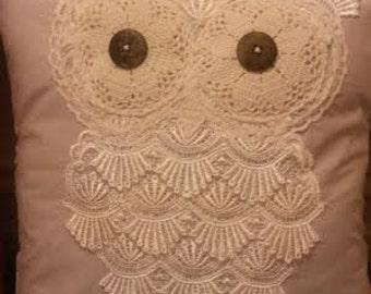 Lace Owl Cushion
