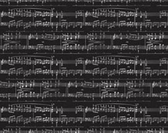 Black Foil Music Notes Specialty Card Stock - Black Music Paper - Black Foil Cardstock - Specialty Foil Paper - Foil Music Notes Paper