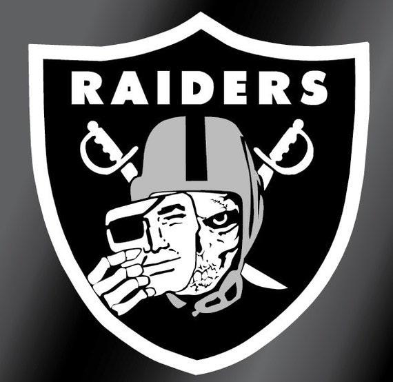 Skull Oakland Raiders Vinyl Decal Sticker