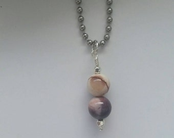 Mookaite Necklace, Pendant, Charm, Sterling Silver, Mookaite Jasper, Healing Pendant, Crystal Jewelry