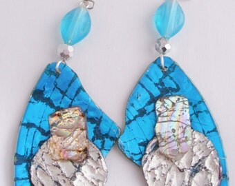 Broken UpCycled CD Earrings