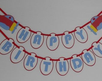 Airplane Themed Birthday Banner