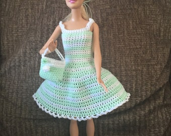 Barbie Doll Dress and Purse