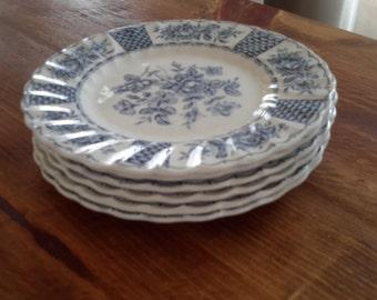 Set of Six Fine English Ironstone Plates