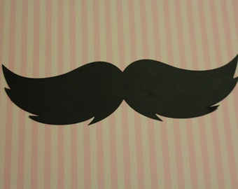 5 Paper Mustache's Photo Props-Birthday, Party favor, wedding, baby shower, any occasion really.