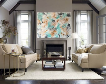 abstract painting abstract art acrylic painting modern art wall art large painting canvas contemporary art large abstract original art mint