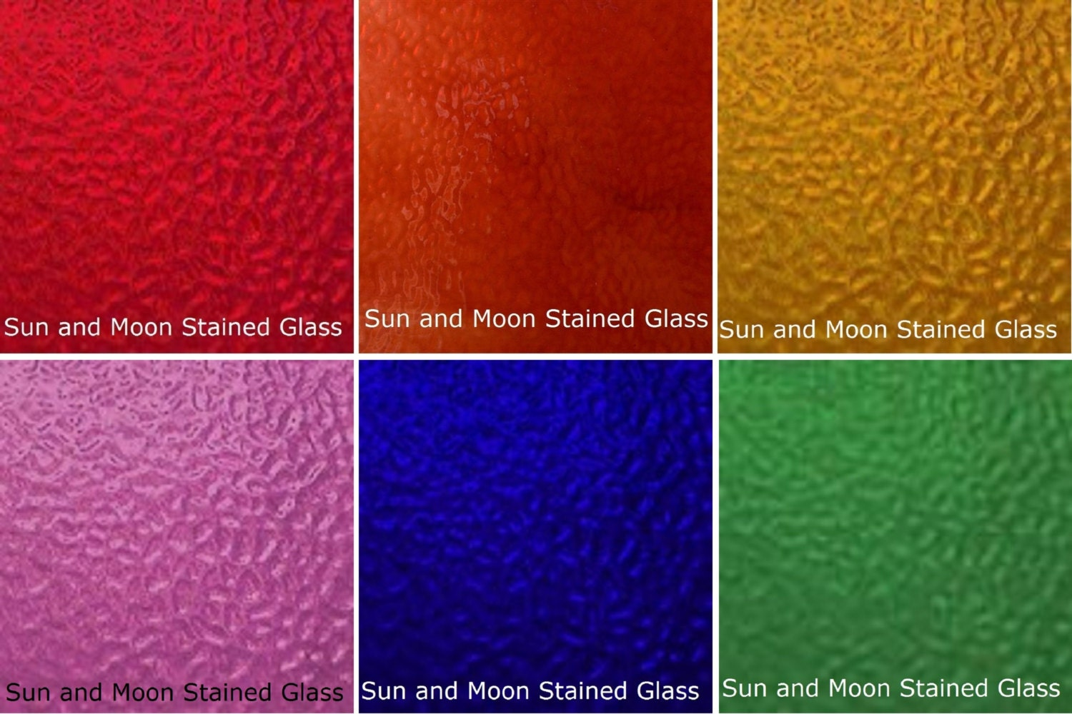 Wissmach Glass Stained Glass Sheet Pack RAINBOW COLORS 6
