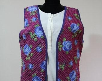 4-Layered Flannel Handmade Vest, 100% Cotton Waistcoat