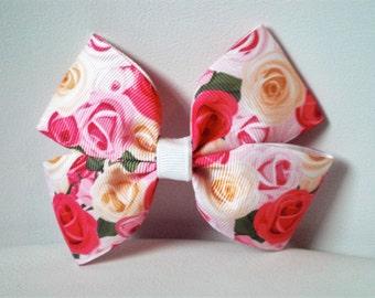 Pink Vintage Rose Boutique Bow