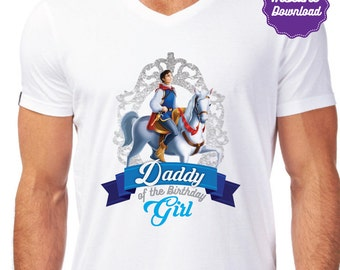 DIY Printable Prince Iron On Transfer, Daddy of the birthday girl, Prince t-shirts, instant download, DIY, Printable