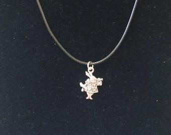 White Rabbit Cord Necklace (Alice in Wonderland inspired)