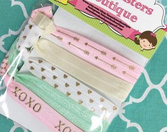 set of no hurt hair ties - pastels