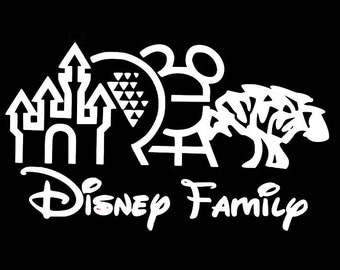 Disney Family Car Decal, Disney, Theme Parks, Mickey, Decal
