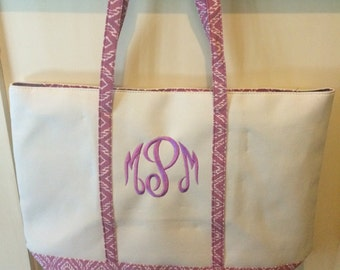 Monogrammed Canvas tote/beach bags