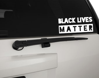 Black Lives Matter Vinyl Decal Sticker, Premium Matte & Glossy Vinyl