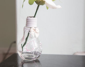 Unique Quirky Lightbulb Vase