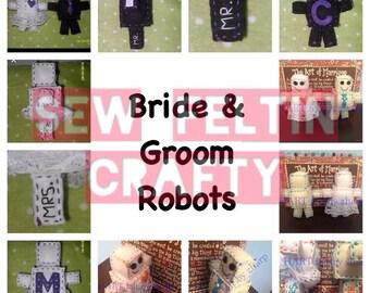 Not So Mini Wedding Robots