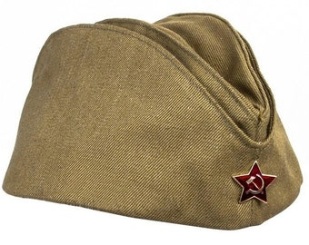 Soviet forage-cap with red star