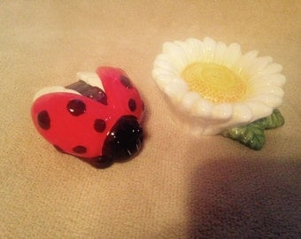Daisy and Ladybug Salt and Pepper Shakers