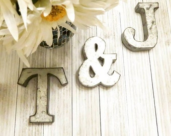 alphabet letters metal letters letters small metal letters wall letters letters for wall nursery decor rustic decor rustic home decor
