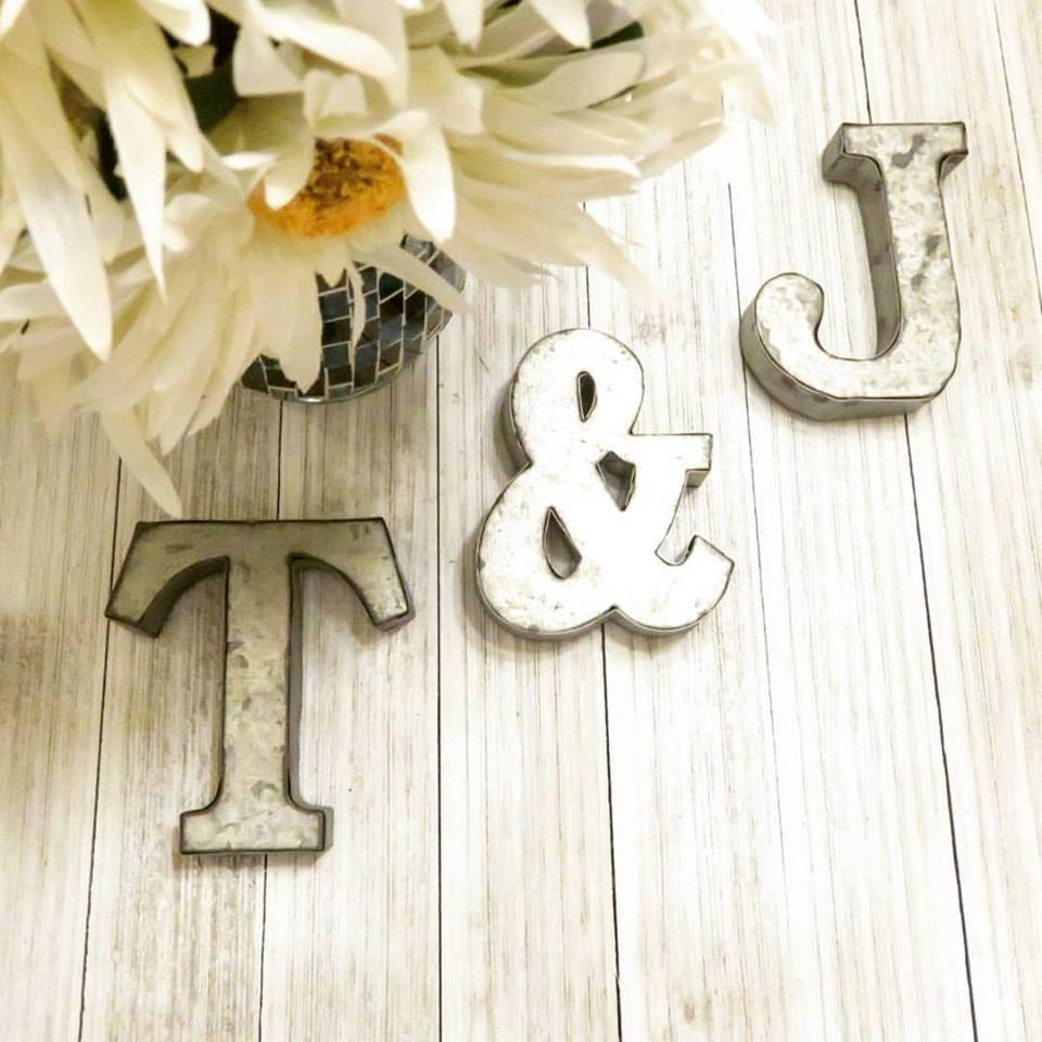Alphabet Letters Metal Letters 4 Letters Small Metal