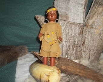 Native  american Doll-antique