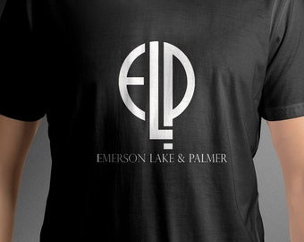 Emerson Lake and Palmer band logo shirt music tee C52