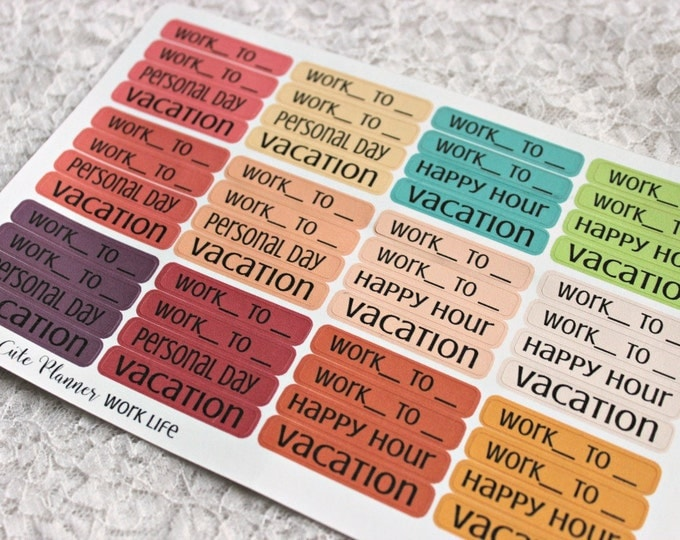 Reminder Stickers / Daily Work Life Stickers / Planner Stickers / Planner Decor / ECLP Stickers / Happy Planner