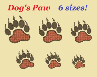 Dog's Paw embroidery designs aplique Dog's paw design embroidery machine