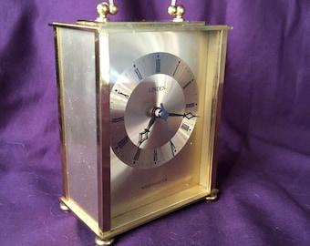 Linden Brass Clock