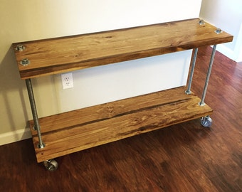 rolling media stand bakers cart tv stand office bookshelf