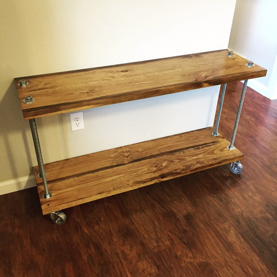 Rolling Media Stand Bakers Cart Tv Stand Office