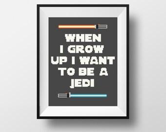 Star Wars Cross Stitch Pattern PDF, Star Wars Quote, Jedi pattern, Modern Cross Stitch, Geeky Cross Stitch, Heroes Quote cross stitch