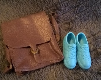 Vintage 1970's Ken pack accessories backpack and shoes
