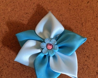 Multi Blue Flower Barrette