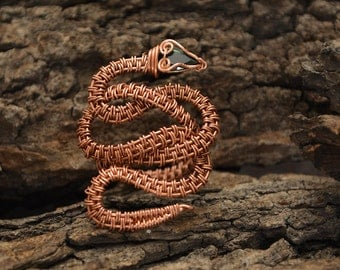 TUTORIAL Adjustable Serpent Ring, Wire Wrap Serpent Ring, Wire Weave Serpentt Ring