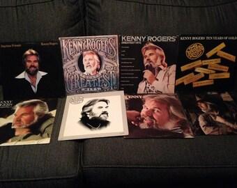 Set of 8 vintage Kenny Rogers Vinyl Albums