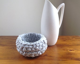 Crochet Rag Basket Bowl