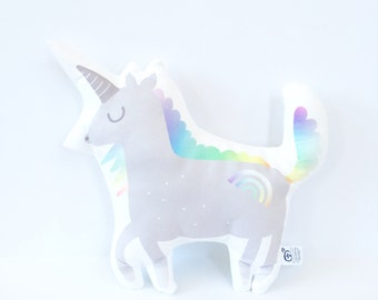 Unicorn, Unicorn Pillow, Rainbow Unicorn, Nursery Pillow, Unicorn Plushie, Unicorn Pillow, Christmas Gift, Kids Gift, Bowie, Rainbow Pillow