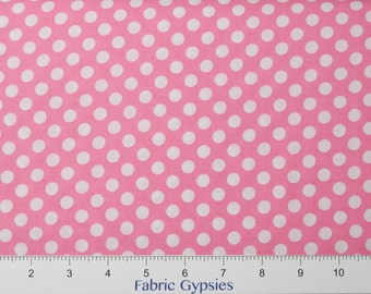 Robert Kaufman Spot On ~  EZC12872-10 Pink ~ White Dots on Pink ~ By The Half Yard ~