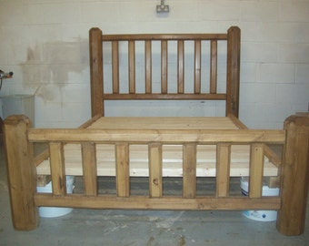 solid hand built bed