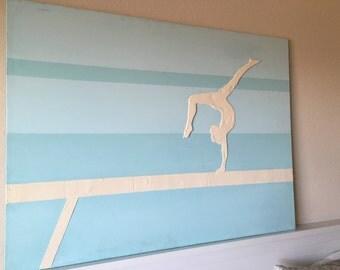 Gymnast Painting Custom Acrylic Canvas