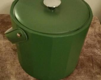 Vintage pleather Georges Briard ice bucket