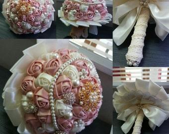 Handmade Vintage Silk Colour Bridal Bouquet