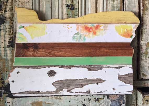 Rustic reclaimed wood custom oregon sign by loulabeelane for Reclaimed wood oregon