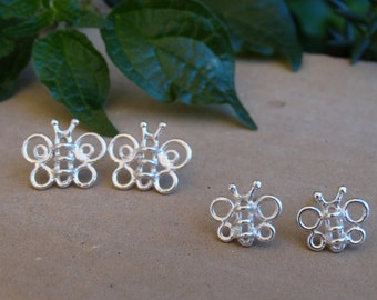 Silver Butterfly earrings, Butterfly earrings, Sterling silver stud earrings, Butterfly studs, Tiny earrings, Girl earrings Butterfly jewels