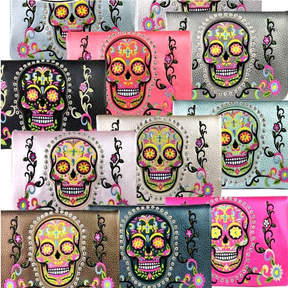 Bling Sugar Skull Collection Clutch