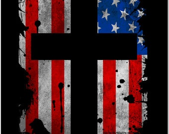 Unique Flag Cross Decal Related Items Etsy